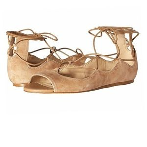 SAM EDELMAN Barbara Suede Lace Up Sandals Sz 6
